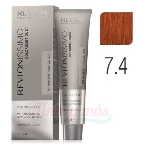Revlon Revlonissimo Colorsmetique 7.4 rubio cobrizo 60ml.