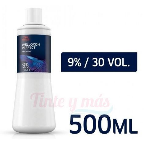 Wella Oxigenada 500ml. Welloxon Perfect 9% - 30 Volúmenes.