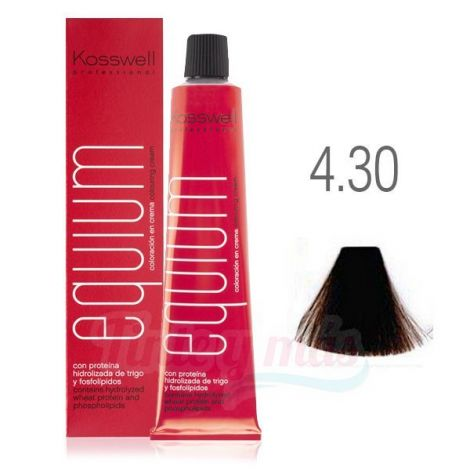 Kosswell Tinte Equium 4.30 Arena Oscuro Intenso 60ml + Oxigenada Oxiwell 75ml. de Regalo