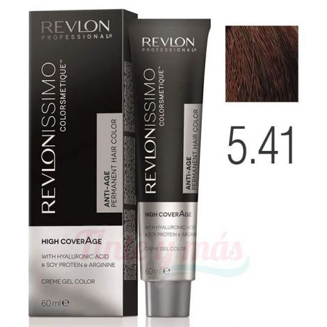 Revlon Revlonissimo High Coverage 5.41 Castaño Claro Marrón Profundo 60ml.